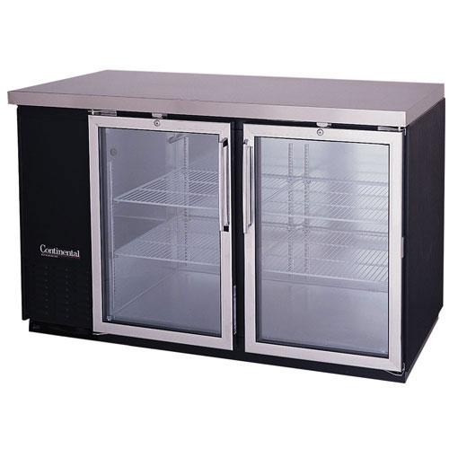 59 Glass Door Shallow-Depth Back Bar Storage Cooler - Continental Refrigerator BBC59S-GD