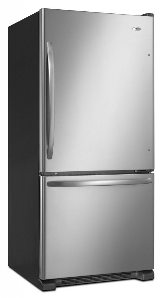 Amana 18.5 Cubic Foot Bottom-Freezer Refrigerator, ABB1924WES, Stainless-Steel
