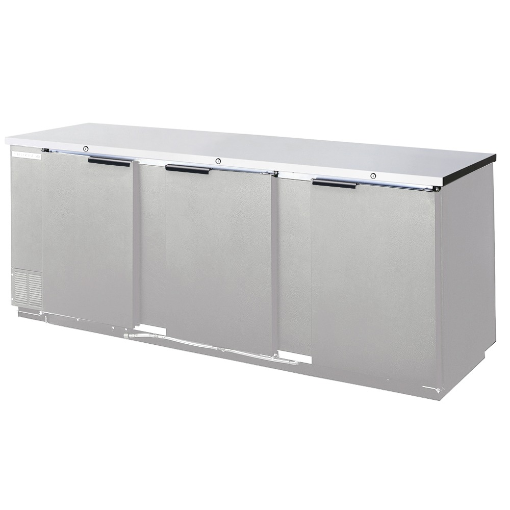 Beverage Air (Bev Air) BB72R-1-B 72 Black Remote Cooled Back Bar Refrigerator with 3 Solid Doors - 115V