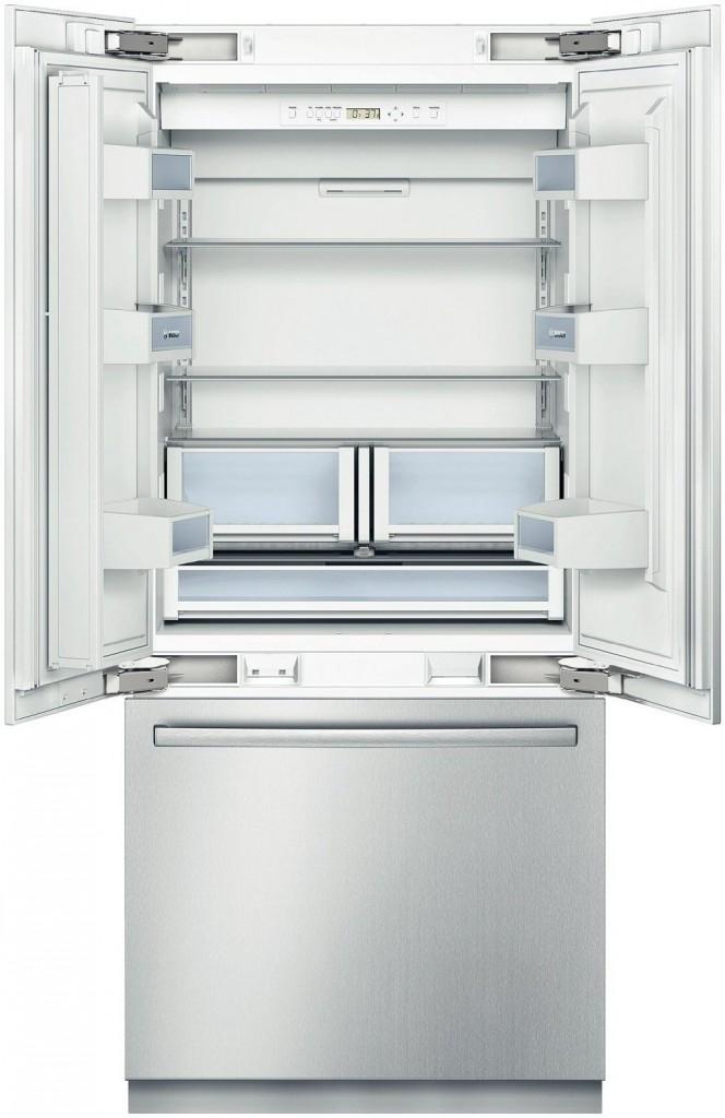 Bosch B36BT830NS 800 20.0 Cu. Ft. Stainless Steel Counter Depth Built-In French Door Refrigerator - Energy Star