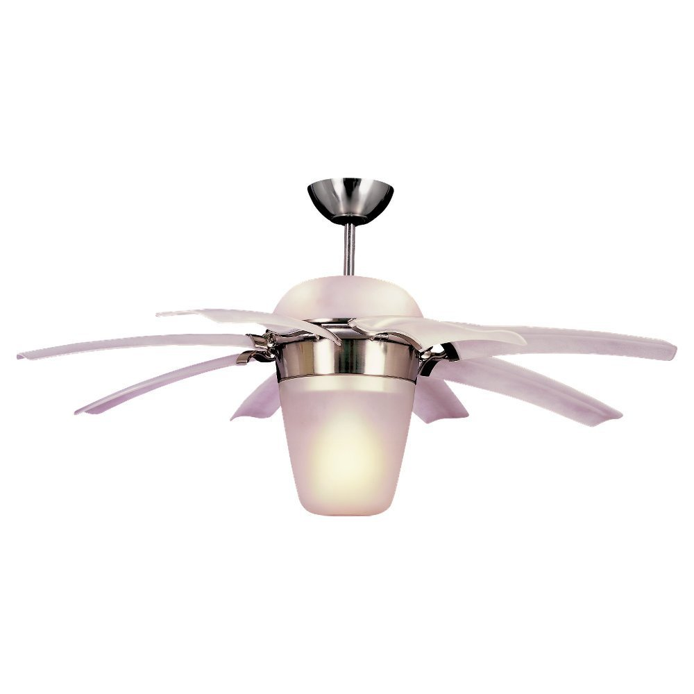 Brushed Steel Finish Monte Carlo Ceiling Fan