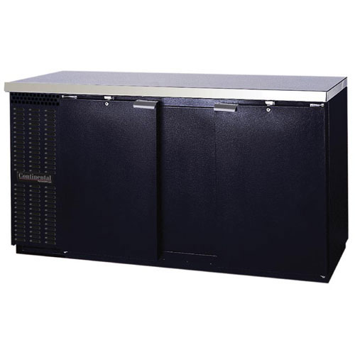 Continental Refrigerator BBC69-PT 69 Solid Door Pass-Thru Back Bar Storage Cooler