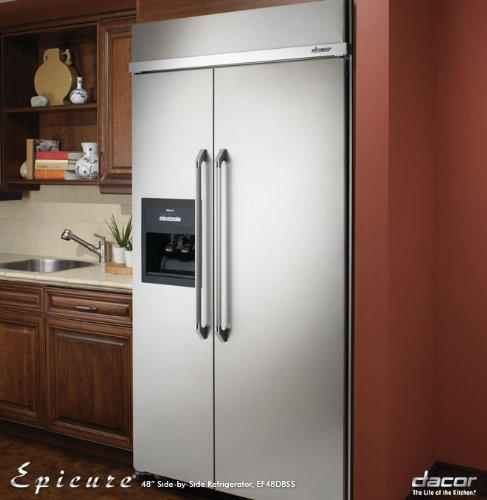 Dacor EF42NBSS Discovery 25.3 Cu. Ft. Stainless Steel Counter Depth Built-In Side-By-Side Refrigerator