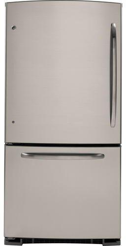 GE GBSL0HCXLLS 20.3 Cu. Ft. Stainless Look Bottom Freezer Refrigerator - Energy Star