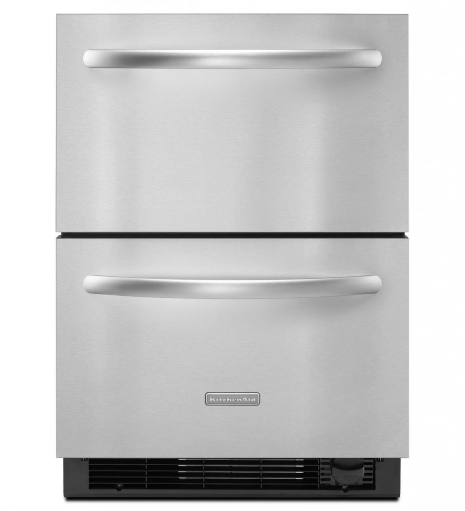 Kitchen Aid Architect II 24 In. Stainless Steel Built-In Double Drawer Refrigerator - KDDC24CVS