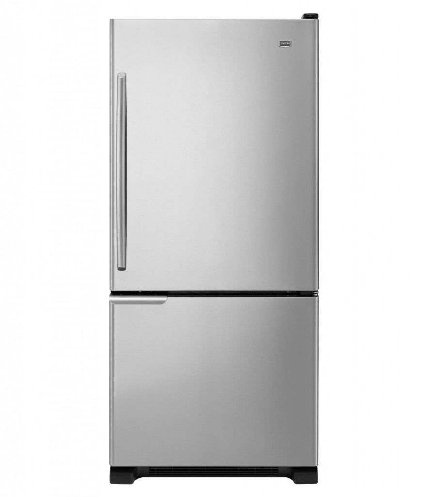 Maytag MBR1953YES 18.5 Cu. Ft. Stainless Steel Bottom Freezer Refrigerator - Energy Star