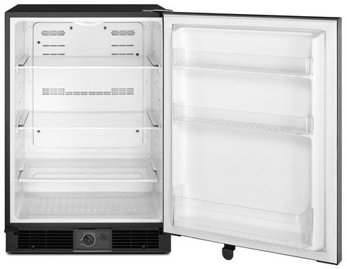 Maytag MURM24FWBS 5.6 Cu. Ft. Stainless Steel Undercounter Built-In Compact Refrigerator - Energy Star