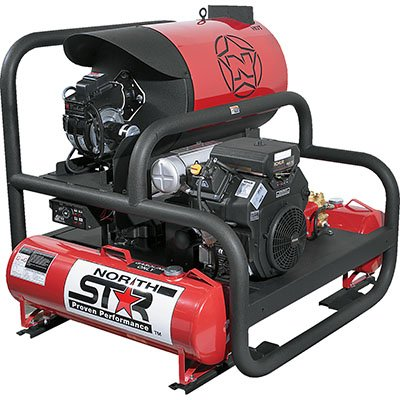 NorthStar 2-Gun Hot Water Pressure Washer Skid — 25 HP