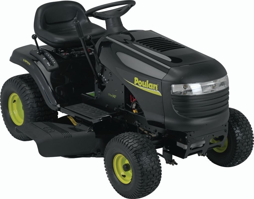 Poulan PO17542LT 42-Inch 17-12 HP Briggs and Stratton Riding Lawn Tractor With 6-Speed Transmission