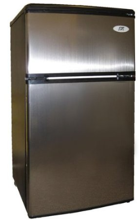 3.3 Cu. Ft. Stainless Steel Compact Refrigerator