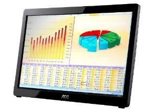 AOC E1649FWU 16 USB-Powered Portable LED Monitor – Glossy Black