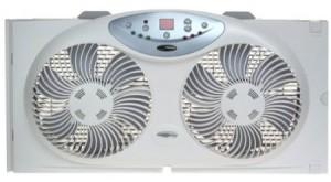 Bionaire BW2300 Twin Window Fan – 3 Speed Settings With Remote Control