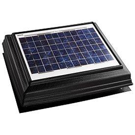 Broan 355SOBK Surface Mount Solar Powered Attic Ventilator, Black
