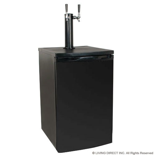 EdgeStar Full Size Dual Tap Kegerator & Draft Beer Dispenser – Black