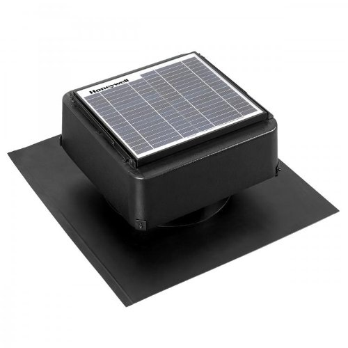Honeywell 527SHON105BLK Roof Mount Solar Panel with Attic Fan, 12-Watt