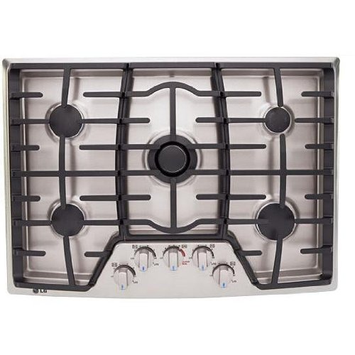LG 30 GAS COOKTOP STAINLESS STEEL
