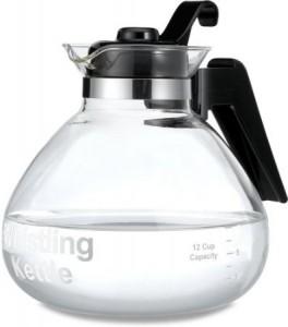 Medelco 12-Cup Glass Stovetop Whistling Kettlem – dishwasher-safe