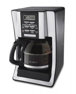 Mr. Coffee BVMC-SJX33GT 12-Cup Programmable Coffeemaker – 2-Hour auto shut-off, Chrome