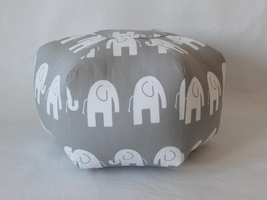 18 Pouf Ottoman Floor Pillow Grey White Elephant
