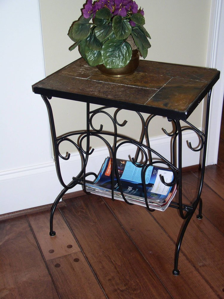 4d Concepts Magazine End Table With Slate Top