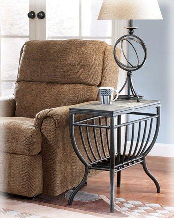 Antigo Slate Chair Side End Table