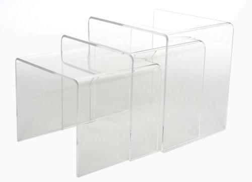 Baxton Studio Acrylic Nesting Tables