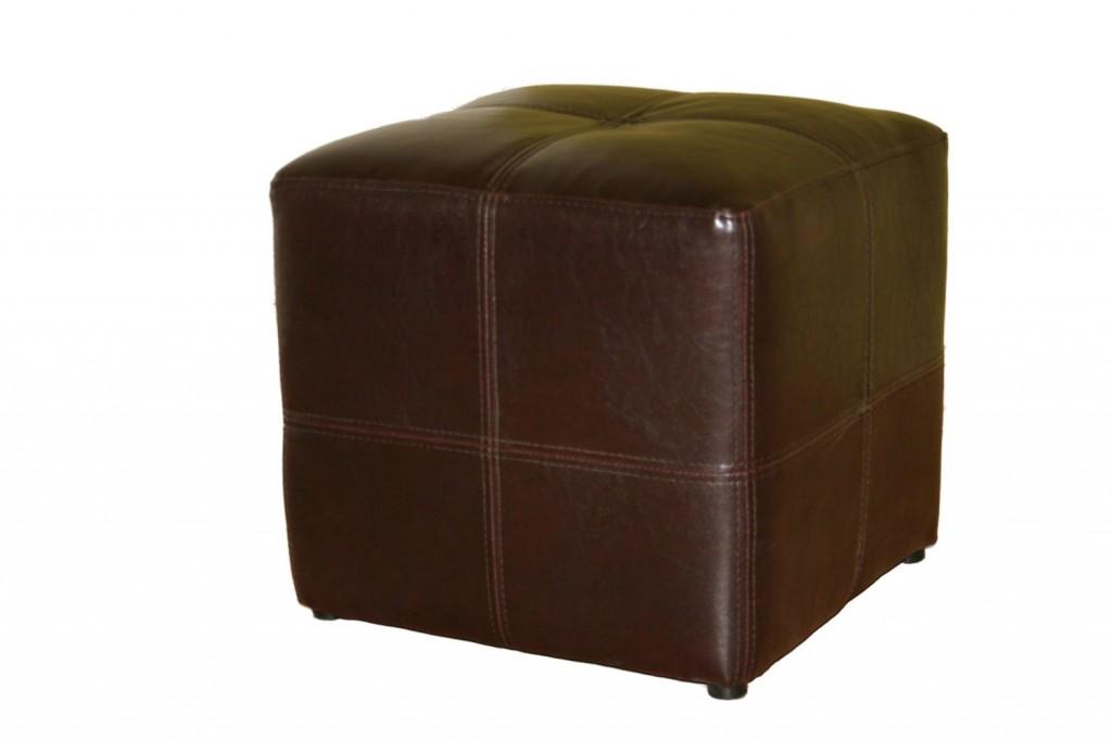Baxton Studio Nox Brown Leather Ottoman