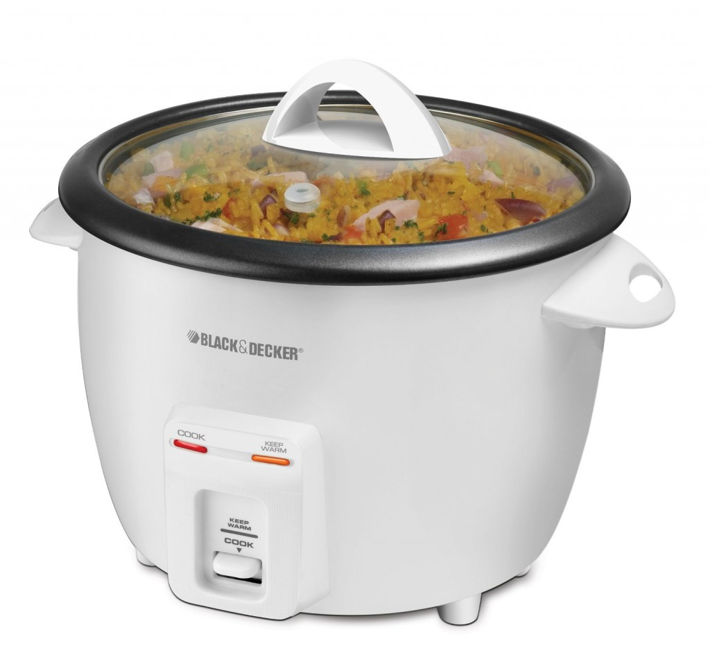 Black & Decker 14-Cup Rice Cooker, White