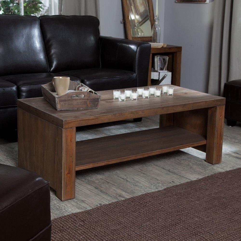 Brinfield Rustic Solid Wood Coffee Table