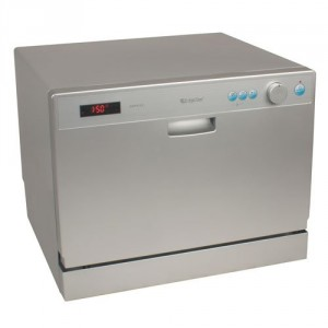 EdgeStar 6 Place Setting Countertop Portable Dishwasher – Silver