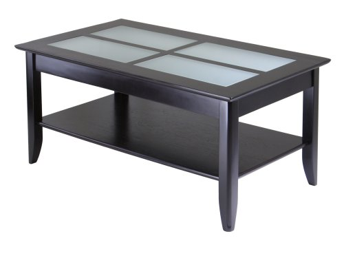 End Table with Frosted Glass