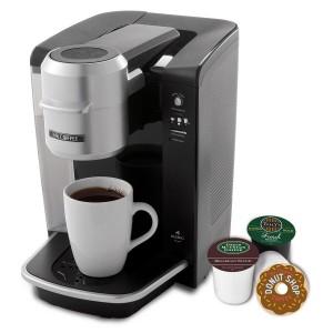 Mr. Coffee BVMC-KG6-001 Single Serve Coffee Brewer Powered by Keurig Brewing Technology, Black/Silver