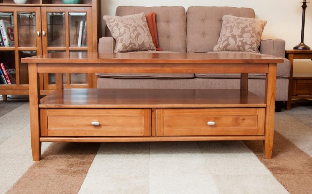 Simpli Home AXWSH001 Warm Shaker Collection Coffee Table