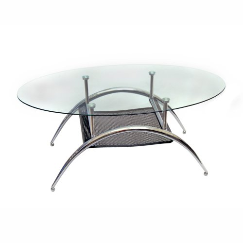 Walker Edison Black Mesh Coffee Table
