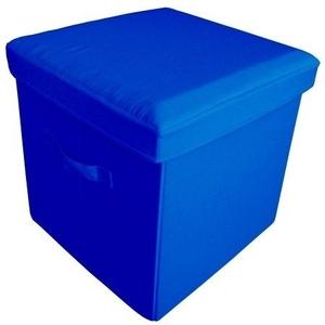 Yu Shan Co Usa Ltd Folding Storage Ottoman 112-58, Light Blue