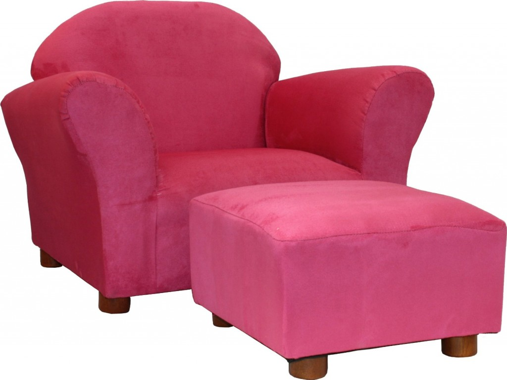 Fantasy Furniture Roundy Chair with Microsuede Ottoman