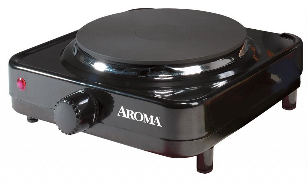 Aroma AHP-303 Single Hot Plate, Black
