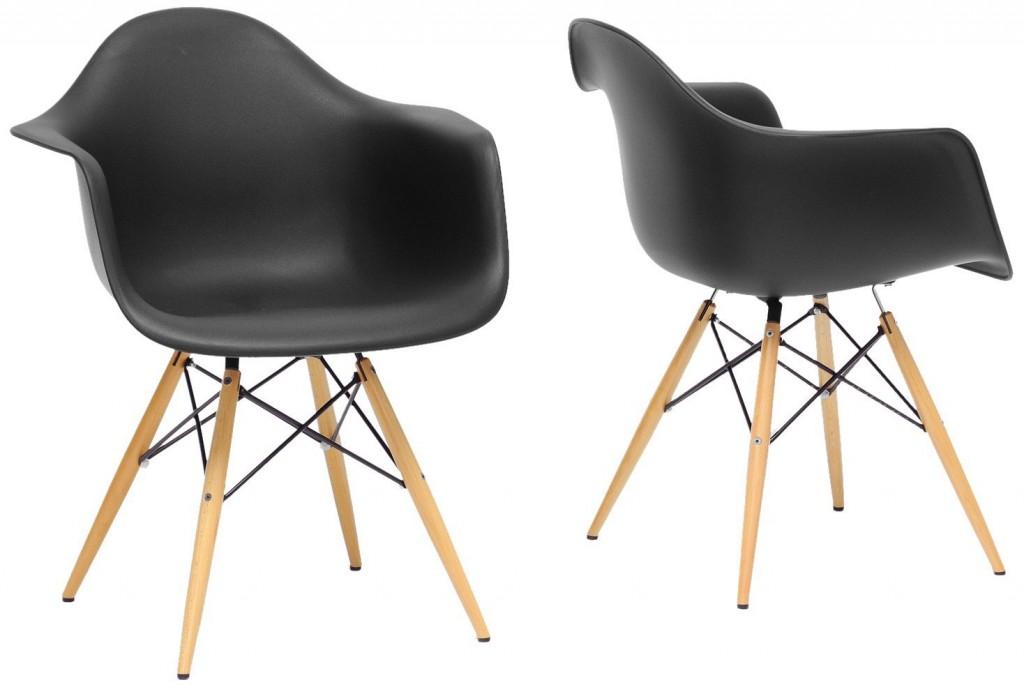Baxton Studio Pascal Plastic Mid-Century Modern Shell Chair, Set of 2