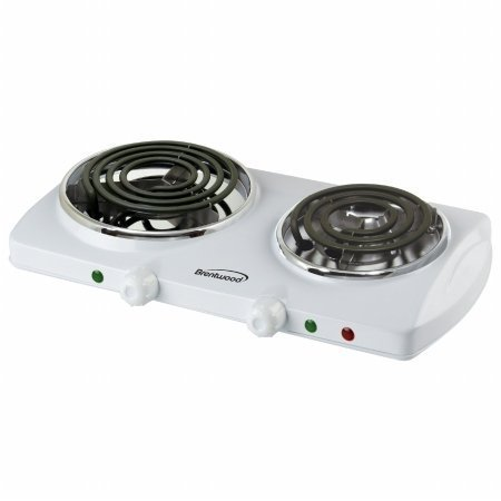 Brentwood Double Burner White