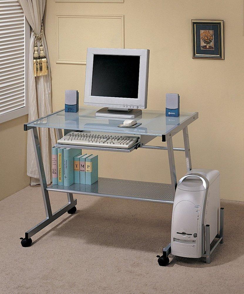 Coaster Modern Metal Computer Station Desk Table