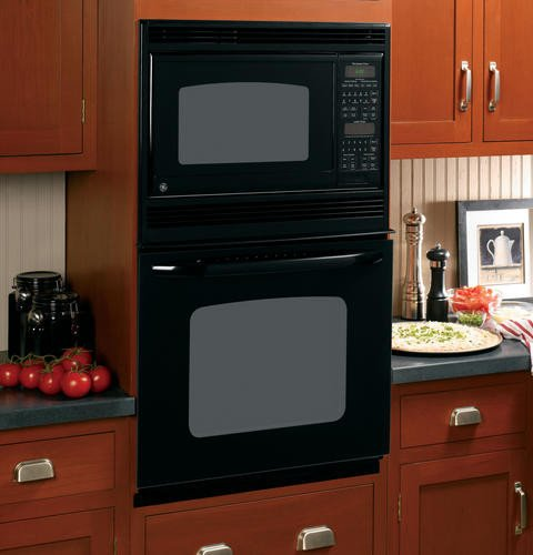 GE 27 Black Built-In Double Microwave Thermal Wall Oven
