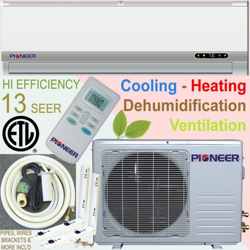 Haier Ductless Mini Split Air Conditioner and Remote Control