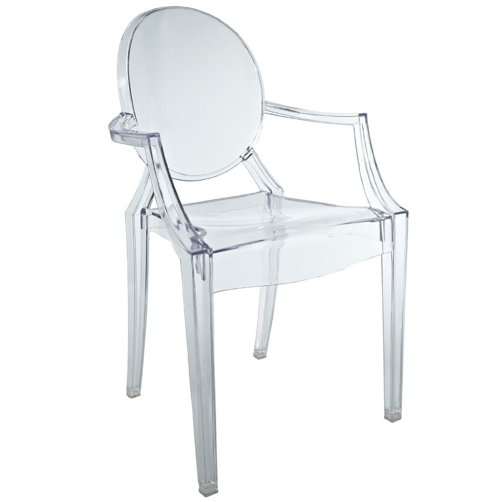 LexMod Philippe Starck Style Mini Louis Ghost Chair in Clear