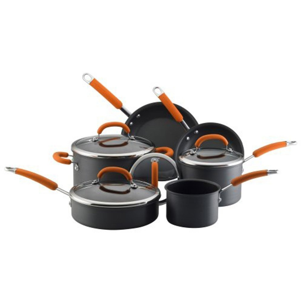 Rachael Ray 80655 Hard Anodized 10-pc. Premier Cookware Set