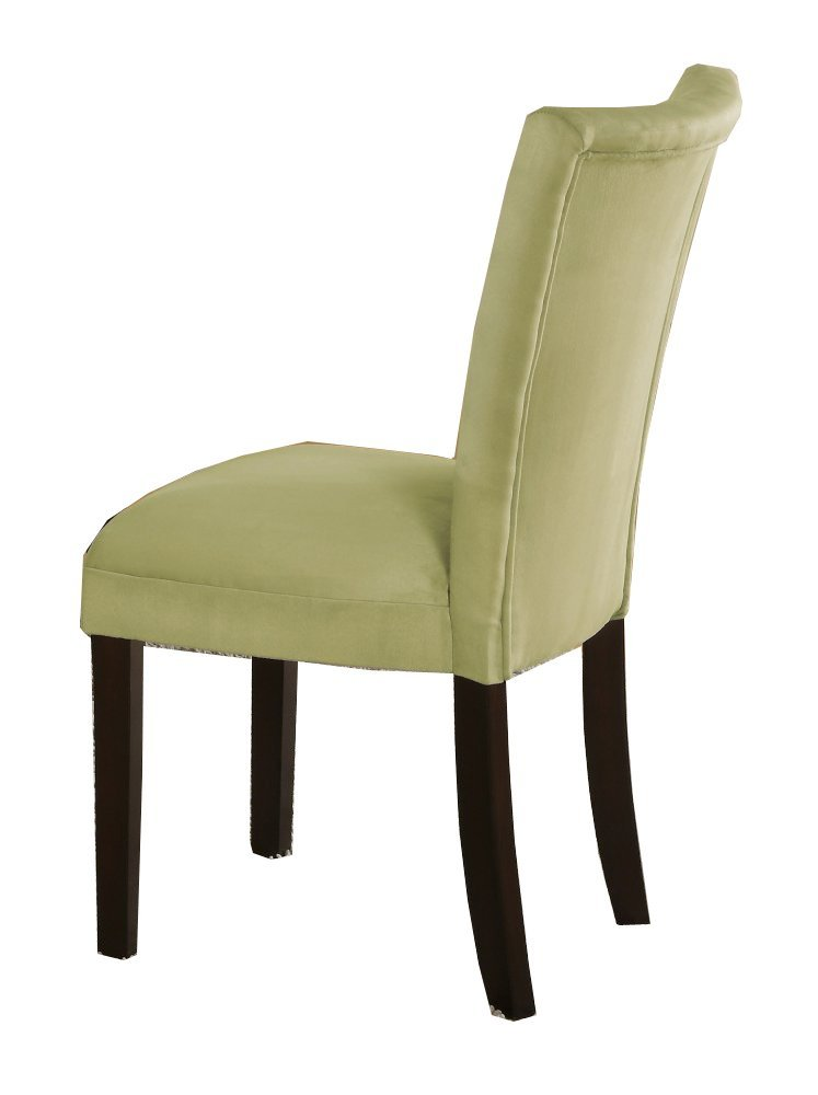 Set of 2 Parson Dining Chairs Light Green Microfiber