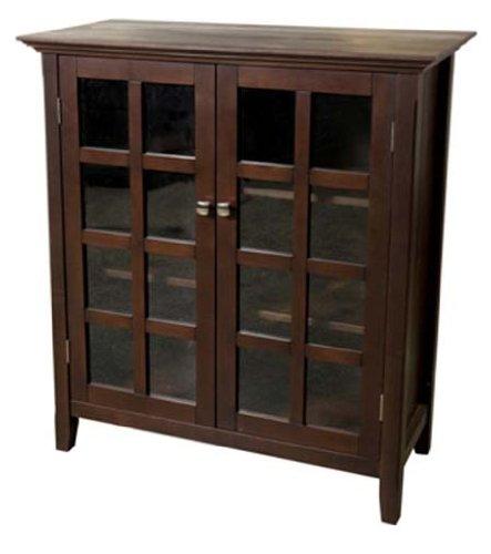 Simpli Home AXREG007 Acadian Collection Medium Storage Cabinet
