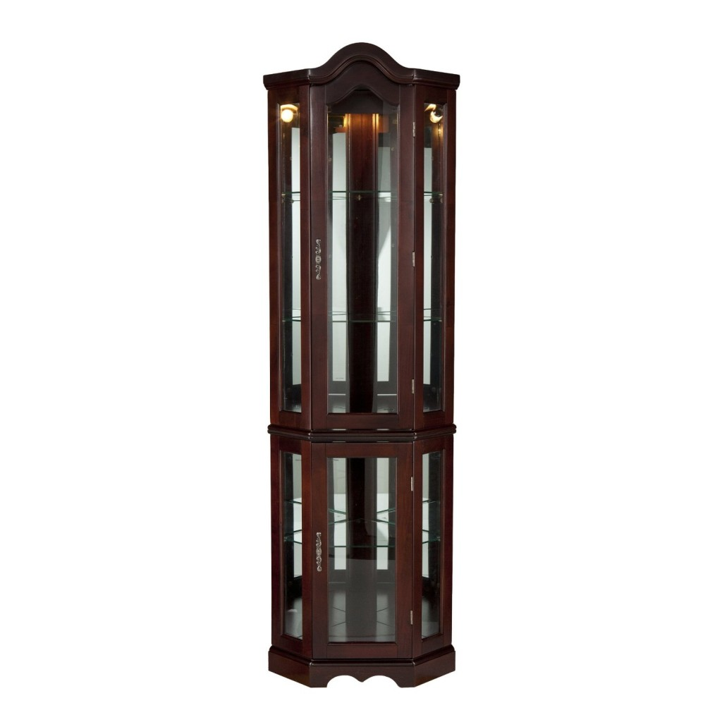 Southern Enterprises Lighted Corner Display Cabinet