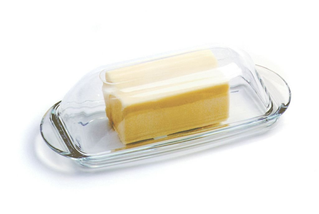 Anchor Hocking Presence Glass Butter Dish
