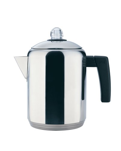 Copco 4- to 8-Cup Polished Stainless Steel Stovetop Percolator