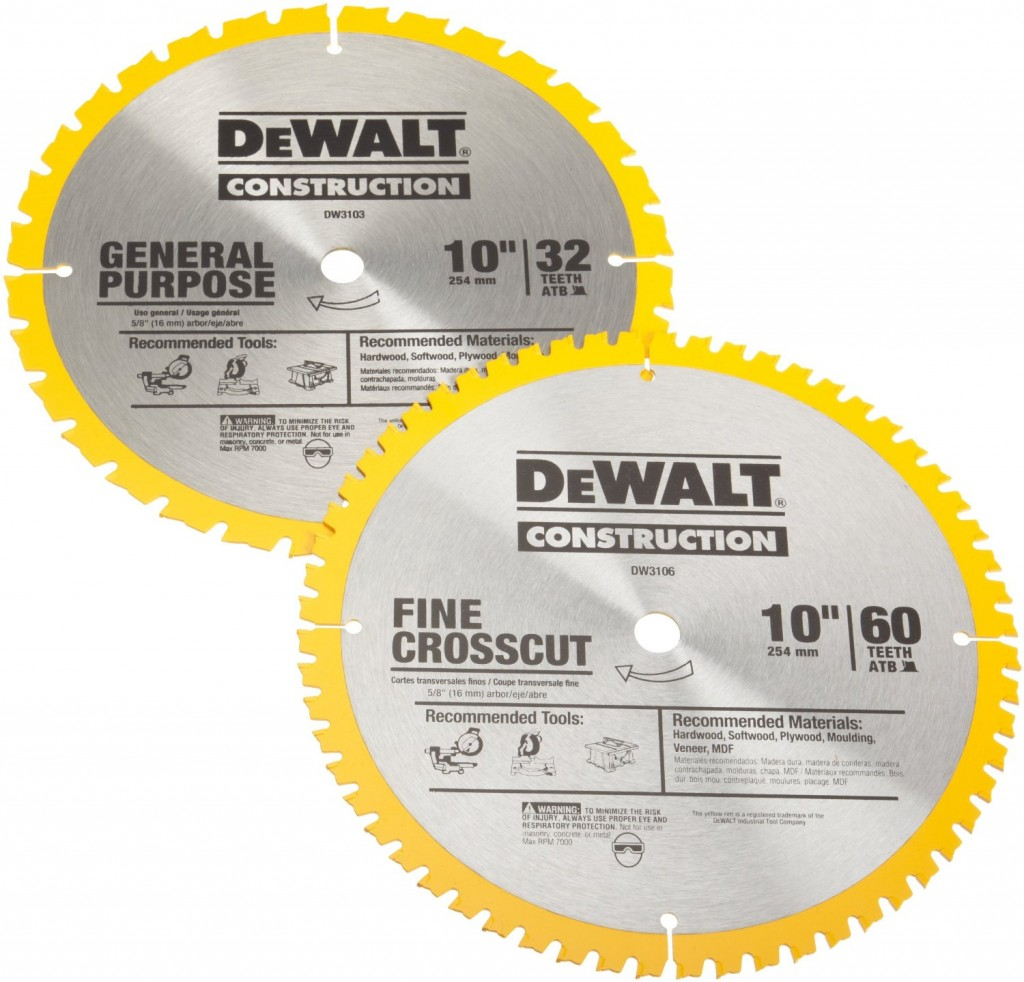 DEWALT DW3106P5 60-Tooth Crosscutting